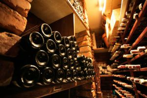 The cellar of a private wine collector