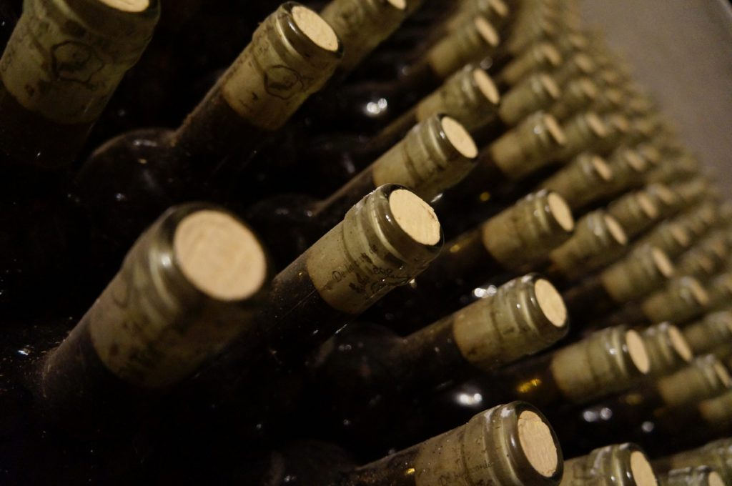 Bottles of wines for insurance purposes